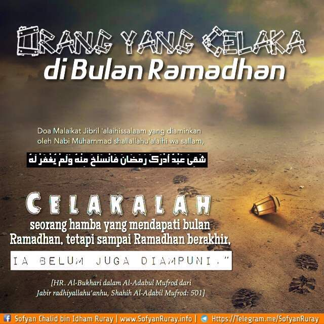 ORANG YANG CELAKA DI BULAN RAMADHAN